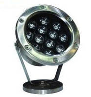Подводный Led светильник 12W RGB