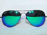 Очки Ray Ban AVIATOR 3026 ТЗ Зеркальные Полароид