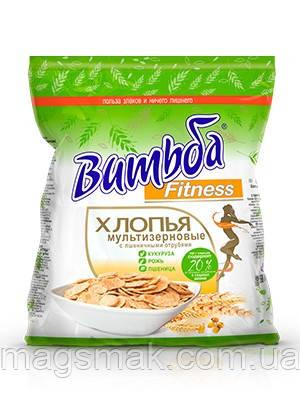 Мультизерновые хлопья Витьба Fitness с пшеничными отрубями, 250 г, фото 2