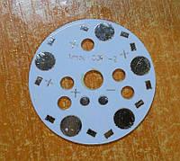 Подложка для светодиодов на 5 шт 0,5-3Вт 40мм