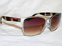 Очки PRADA J58225 MA01 платина коричневый реплика