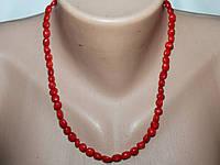Ожерелье Коралл 40 см Г 7 мм Красный