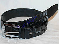 Пояс Ремень КОЖА BARBERRY 116*3,8 см Черный