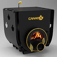 БУЛЕРЬЯН «CANADA» С ВАРОЧНОЙ ПОВЕРХНОСТЬЮ «01»+панорамное стекло ROBAX+защитный перфорированный кожух