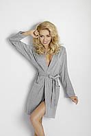 Красивый серый халат из вискозы Ines TM Dkaren (Польша) Замечательное качество, отправка в день оплаты!
