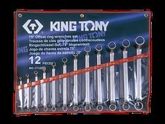 Набор ключей накидных 12 ед. (6-32мм) (в составе ключ 24х27мм)  KING TONY 1712MR01