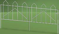 Кованое декоративное ограждение для клумб NetProfit Геометрия черное