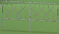 Кованое декоративное ограждение для клумб NetProfit Фасция коричневое