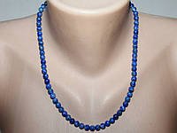 Ожерелье лазурит 40 см Ш 6 мм