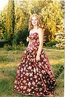 Платье выпускное, карнавал! блестит. плюс перчатки