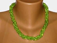 Ожерелье Оникс Зеленый 44 см Ш 6 мм 3н