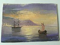 Морской пейзаж Миниатюра Мысова И.