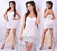 Белое гипюровое платье