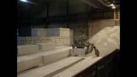 Погрузка навального блока Купянского газобетона на заводе