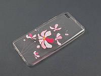 Чехол Lucent для Xiaomi Mi5 Mi5s прозрачный принт Ирисы