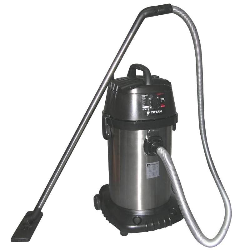 Пылесос промышленный TITAN ПП30 (1000Вт, 30л, 23kPa)
