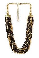 Ожерелье бисер (золотой и черный тон)