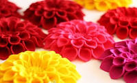 Цветок из фетра (МК в фото)
