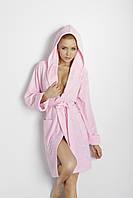 Мягкий махровый халат из хлопка Inga розовый TM Dkaren (Польша)