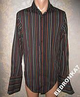 Рубашка под запонки! сост супер! в полосочку!