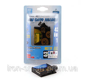 Card Reader внешний AtCom TD2028, Black/Blue, 46 in 1, M2/microSD/Pro Duo/SDHC