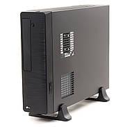 Корпус PrologiX M02/103B Black, 400W, 80mm, Slim, Micro ATX / Mini ITX, 3.5mm х 2, USB2.0 x 2, 5.25' x 1, 3.5' x 1, 0.5mm, Card Reader