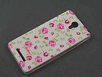 Чехол TPU Diamond для Xiaomi Redmi Note 2 Цветочный принт Розочки