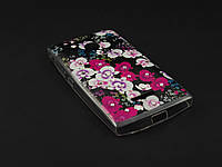 Чехол Diamond TPU  для Microsoft Lumia 435 Nokia черный принт