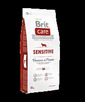 Brit Care (Брит Кеа) Sensitive (12 кг) корм гипоаллергенный для собак всех пород с олениной и картофелем, фото 1