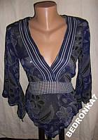 Фирменная блуза, шифон, воздушная, прозрачная!