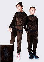 """Детский подростковый спортивный велюровый костюм 4088 """"Поло Вышивка"""" в расцветках"""