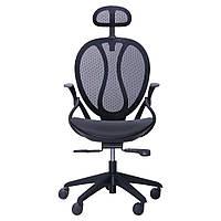 Кресло Lotus HR пластик черный/сетка черная