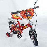 """Велосипед Микки Маус 12  красный с черным, система: """"One piece crank"""""""