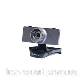 Web камера REAL-EL FC-140 Black/Gray, 1.3 Mpx, 640x480, USB 2.0, встроенный микрофон