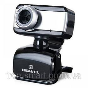Web камера REAL-EL FC-130 Black, 1.3 Mpx, 640x480, USB 2.0, встроенный микрофон