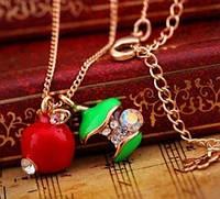 Подвеска Яблочки/бижутерия/цвет красный, зеленый