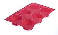 Форма силикон красная для 6 маффинов WESTMARK W30152270