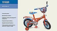 """Велосипед 2-х колес 12 """" 151223  со звонком, зеркаломми в колесах"""