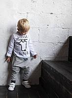 Футболка Little Hippie а с длинным рукавом. Белая. Унисекс. Размеры: 98,104 см, фото 1