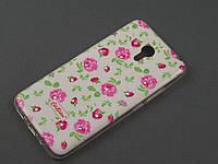 Чехол TPU Diamond для Meizu M2 Note цветочный принт розы