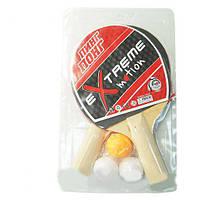 Теннис настольный T0101 2 ракетки + 3 мячика, под слюдой 25*15 см