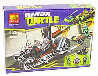 """Конструктор BELA NINJA TURTLES 10207 """"Мотоцикл-дракон Шреддера """", в коробке 26*19*4, 5см"""