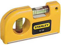 Уровень STANLEY Pocket Level карманный 2 капсули L=87мм Арт.(0-42-130)