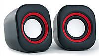 Колонки 2.0 HQ-Tech HQ-SP913U Black USB / 2х3Вт / 100-18000Hz / пластик / mini-jack 3.5