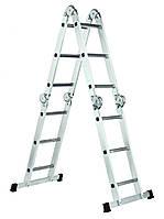 Шарнирная лестница Werk LC2412 4x3 с рабочей площадкой (BP35271)