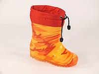 """Резиновые сапоги детские Verona """"Оранжевый камуфляж"""", фото 1"""