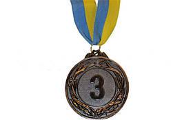 Медаль спорт d-6,5см С-4327-3 бронза GLORY (40g, на ленте)