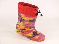 """Резиновые сапоги детские Verona """"Фиолетовый камуфляж"""", фото 1"""