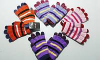 Перчатки красивые  для девочек двойные