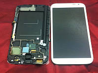 Дисплейный модуль с рамкой для Samsung N7100 Galaxy Note 2 (White) Original